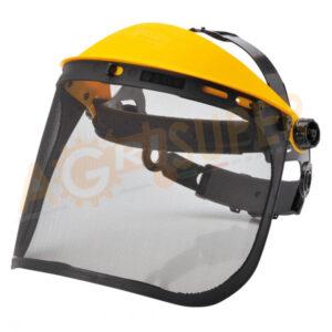 visiera regolabile con calotta e rete acciaio
